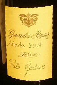 Gonzalez Byass Palo cortado 1967